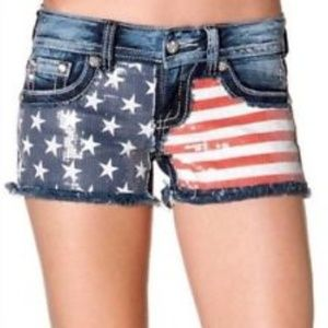 Miss me shorts size 25 American flag
